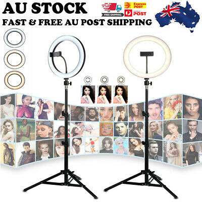 AU28.99 • Buy 4.6 /6.2  LED Ring Light Dimmable Lighting For Makeup Studio Video Youtube Live