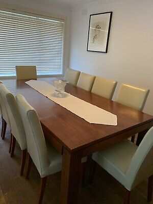 AU1200 • Buy 10 Seater Dining Table And Chairs - Table $800 And Chairs $500 If Sold Seperate