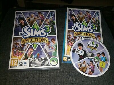 THE SIMS 3 AMBITIONS Pc DVD / Apple MAC Add-On Expansion Pack SIMS 3 • 4.49£