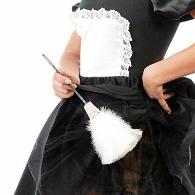 £2.59 • Buy White Feather Duster French Maid Fancy Dress Accessory