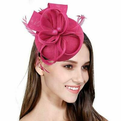 Fascinator Headband Hats Round Hatinator Ascot Races Pillbox Feathers Hair Clip • 6.99£