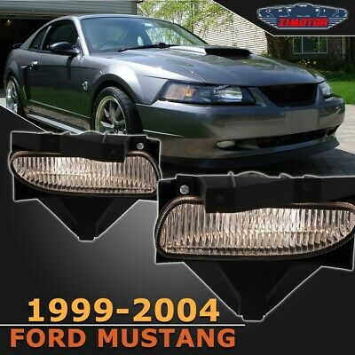 $27.61 • Buy 99-04 Fit Ford Mustang Clear Lens Pair Bumper Fog Light Lamp OE Spec Replacement