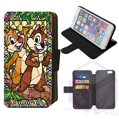£8.99 • Buy STAINED GLASS CHIPMUNKS Flip Phone Case IPhone 4/5/6/7/8/X/XR Galaxy