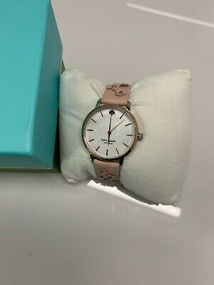 $ CDN76.55 • Buy NEW KATE SPADE Metro Floral Pink/Blush Vachetta Leather WATCH MOP KSW1513 NWT
