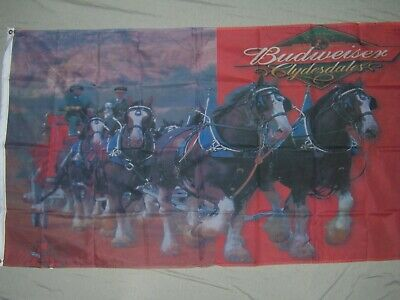$ CDN19.93 • Buy  BUDWEISER BEER CLYDESDALE FLAG NEW 3X5FT Banner Sign Better Quality Usa Seller