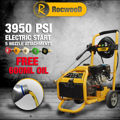 Rocwood Petrol Pressure Power Washer ELECTRIC START 3000 PSI 8HP Jet Washer • 319.99£