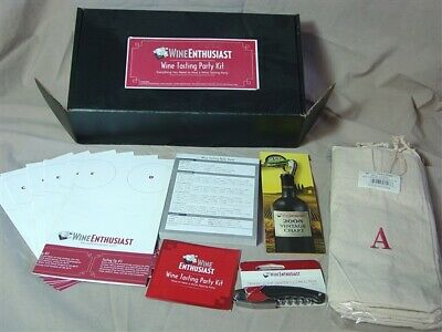 The Wine Enthusiast Wine Tasting Party Kit UNUSED!! !!! • 5$