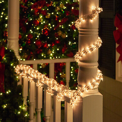 Garland Lights Christmas Light Garland Indoor-Outdoor Decor Clear Red Multi • 27.83$