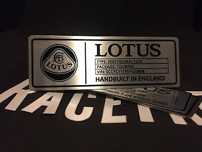 $ CDN63.46 • Buy Lotus Elise Exige Evora Custom Spec Plaque Emblem