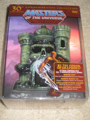 $399 • Buy Masters Of The Universe DVD 30th Anniversary 22 DVDs/CD/Power Sword/Booklet, Ect