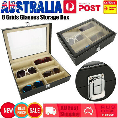 AU20.89 • Buy 8 Grids Sunglasses Eyeglasses Glasses Display Box Storage Case Organizer Holder