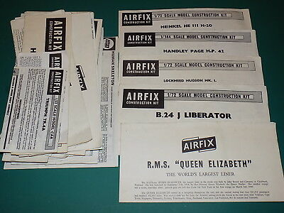 £4.99 • Buy Vintage Airfix Instructions From Model Kits - Select From List