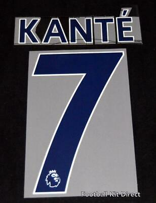 $12.11 • Buy Chelsea Kante 7 Premier League Football Shirt Name Set Sporting ID 2018/19 Away