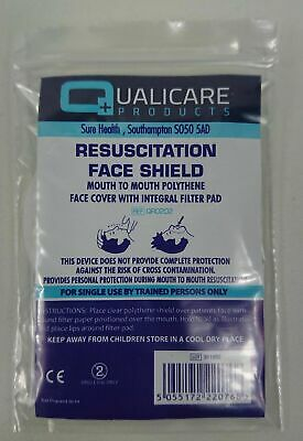 Resuscitation Face Shield Cover CPR First Aid Refil Mask Protection  • 2.20£