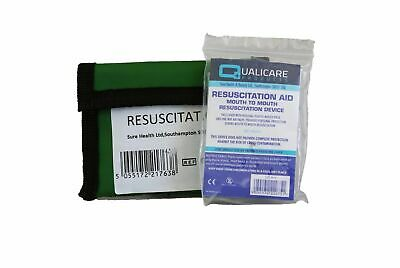 £2.40 • Buy CPR Resuscitation Mouth Face Shield Keyring Pouch First Aid Belt Loop Mask Valve