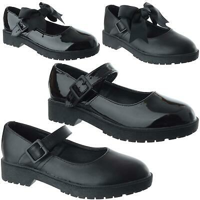 £14.99 • Buy Ladies Womens Girls Flat Low Heel Loafers Mary Jane Dolly School Work Shoes Size