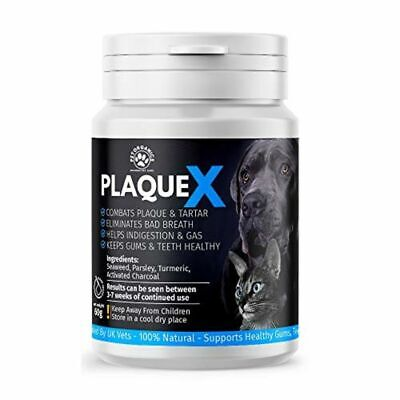 Plaque X Plaque Off & Tartar Remover For Dogs & Cats Turmeric Formulation • 9.30£