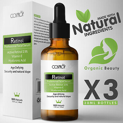 AU28.35 • Buy Retinol Serum - Pure Natural Vitamin C A Hyaluronic Acid - Face Anti Wrinkle Oil