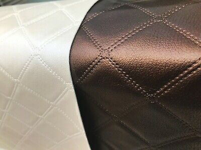 £0.99 • Buy Faux Leather Diamond Fabric Leatherette Upholstery Vinyl Material CRAFT CHAIR
