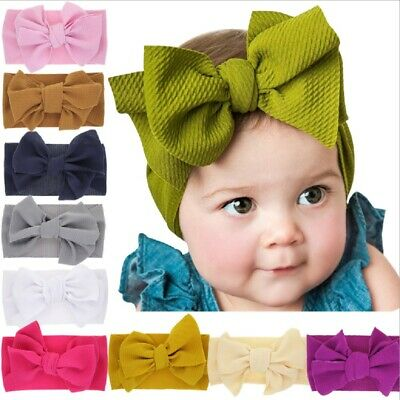 $15.99 • Buy 10 Pcs Kids Girl Baby Headband Toddler Lace Bow Flower Hair Band Accessories US