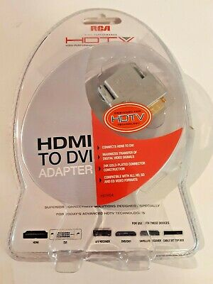 RCA Gold Plated DVI Male To HDMI Female Converter Adapter  • 9.99$