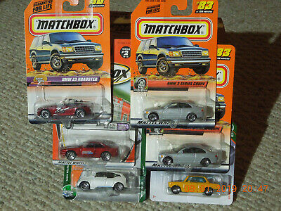 $2 • Buy MATCHBOX LOT OF 6 BMW,Z3 ROADSTER,850i,i3,3 SERIES COUPE,69 BMW 2002, NO RESERVE