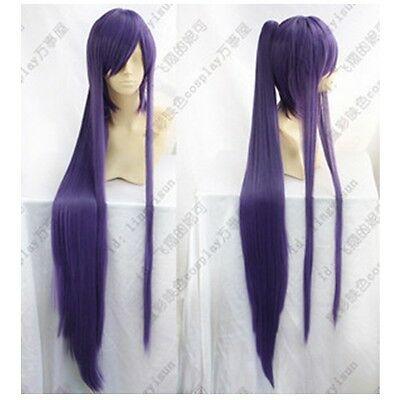 $22.87 • Buy Vocaloid Miku Gakupo Purple Cos Wig Clip On Ponytails Cosplay Wig Hair