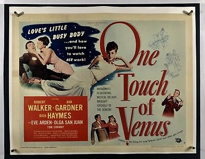 ONE TOUCH VENUS PAPERBACKED Movie Poster (Fine-) Half Sheet 1948 Ava Gardner 12F • 90.45£