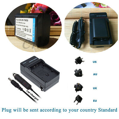 AU21.84 • Buy NP-FW50 Battery & Regular Charger For Sony Alpha A6000, Sony Cyber-shot DSC-RX10