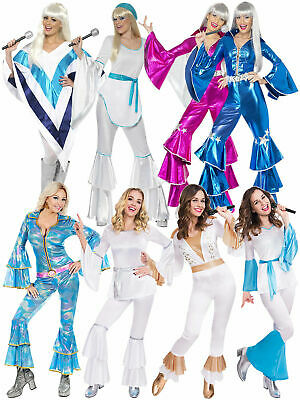 Ladies 1970s Super Trooper Mamma Mia Costume Disco Lady Fancy Dress 70s Jumpsuit • 26.75£