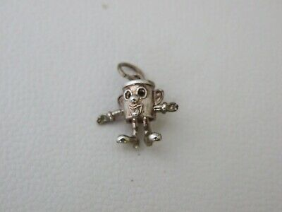 Vintage Sterling Silver Dusty Bin Articulated Charm • 18£