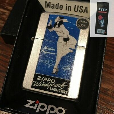 $21.95 • Buy Zippo 205 Windy Matchless Vintage Advertisement Lighter + FLINT PACK