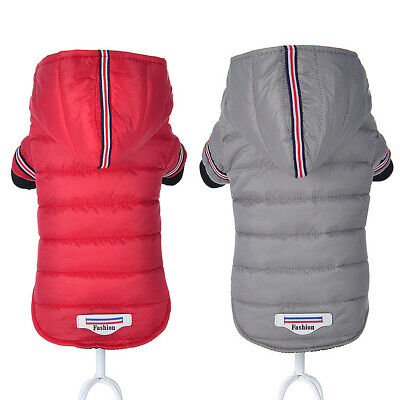 £7.31 • Buy Small Dog Coats For Winter With Hood Chihuahua Clothes Warm Jacket Jack Russell
