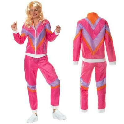 80s Adults Shell Suit Costume Ladies 80s Scouser Tracksuit Fancy Dress Retro • 12.99£