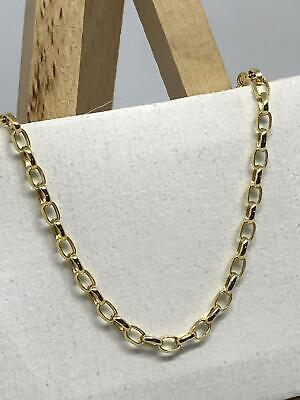 £119 • Buy 9ct 375 Hallmarked Yellow Gold 2.5mm Oval Belcher Link Chain Necklace Brand New