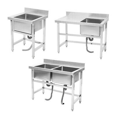 Large Small Catering Sink Stainless Steel Commercial Kitchen Table Bowl Drainer • 199.95£