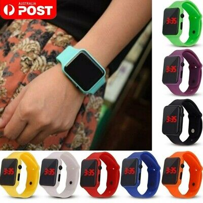 AU9.98 • Buy Hot Digital LED Sports Watch Silicone Band Wrist Watches Boys Girls Men Women AU