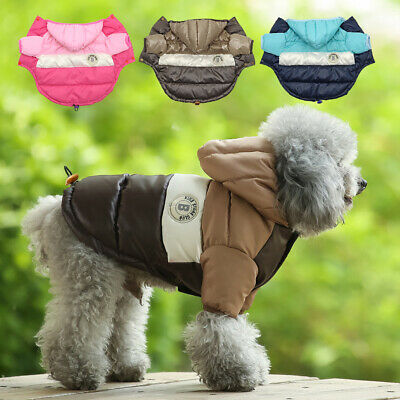 £7.49 • Buy Small Dog Coats For Winter Chihuahua Clothes Waterproof Warm Pet Jacket Hoodie