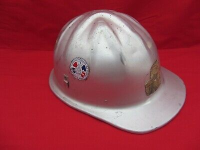 VTG McDONALD T MSA ALUMINUM HARDHAT HELMET MINE SAFETY IAM GRAFFITI NUMBERS  • 29.99$