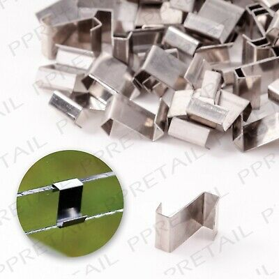 50 PACK GREENHOUSE GLAZING CLIPS Strong Panel Fixing Z Type Stainless Steel Set • 4.24£