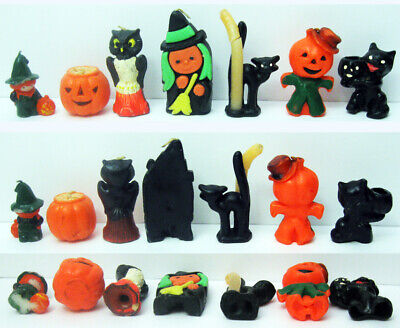 $ CDN27.49 • Buy 7 Different Vintage Halloween Candles, 1 Owl, 2 Witches, 2 Pumpkins, 2 Cats Old