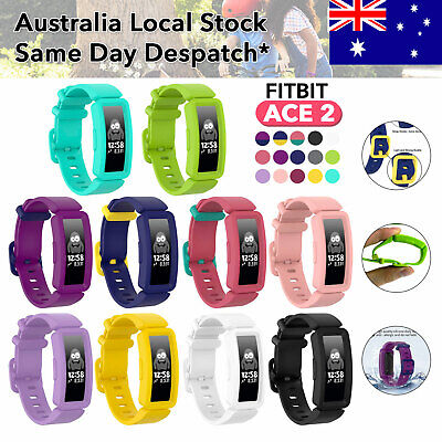 AU5.99 • Buy Fitbit Ace2 Anti-Lost Silicon Replacement Waist Watch Band Strap Buckle Bracelet