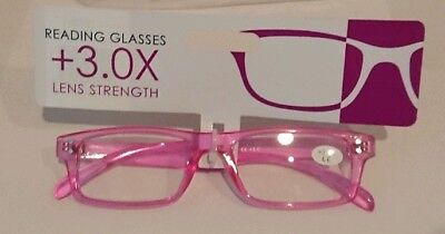 Reading Glasses 3.0 Brand New With Tags Pink Stocking Filler Spare Pair • 3.99£