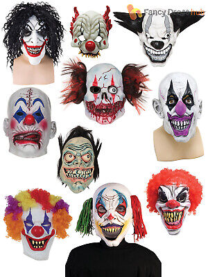 £6.45 • Buy Adults Clown Mask Halloween Creepy Scary Circus Fancy Dress Costume Accessory
