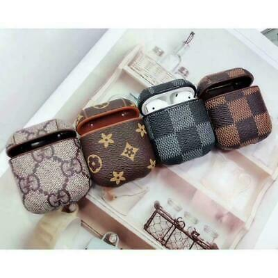 AU16.26 • Buy For Apple AirPods Case Protect Leather Cover Skin AirPod Earphone Charger Cases