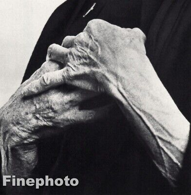 $99.64 • Buy 1958 Isak Dinesen Karen Blixen Author HANDS By Richard Avedon Vintage Photo Art