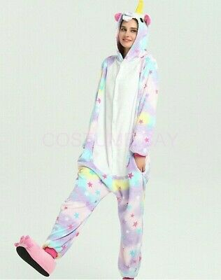 AU29.95 • Buy Star Unicorn Onesie Kigurumi Pyjamas Animal Costume Jumpsuit AU