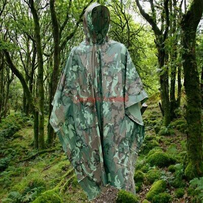 £7.99 • Buy Pro British Army Issue Waterproof Camouflage Camo Poncho Fish Hike Hunt Hide New