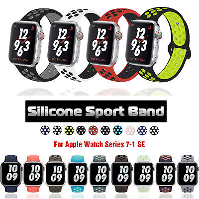 $ CDN5.06 • Buy 40/44/38/42mm Silicone Sport Band Strap For Apple Watch Series 6 5 4 3 SE IWatch