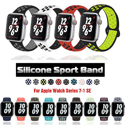 $ CDN6.02 • Buy 40/44/38/42/mm Silicone Sport IWatch Band Strap For Apple Watch Series 5 4 3 2 1